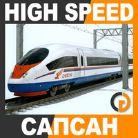 speed train - sapsan 3d max