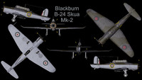 rare planes blackburn b-24 3d 3ds