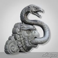 3d model thailand snake fontain sculpture