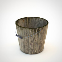 wooden bucket (lowpoly)