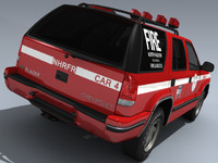 1998 chevy blazer rescue 3d model
