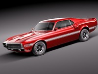 3ds max mustang gt500 shelby cobra