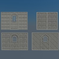 medieval gates 3d 3ds