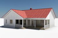 3dsmax story single family house
