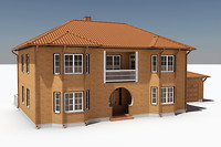 3ds max story single family house