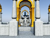 3d model temple hindu shiva