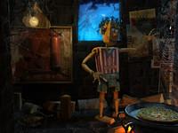 Pinocchio 3D scene