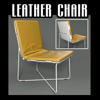 contemporary leather chair 3d model
