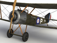 3d wwi sopwith pup aircraft model