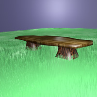 sitting bench 3d blend