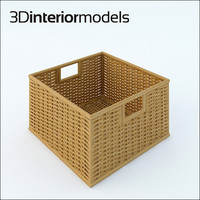 3ds wicker box