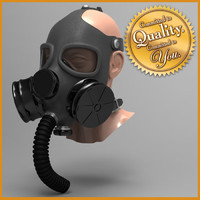 Gas Mask with Head