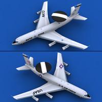 3ds max aircraft awacs nato usaf