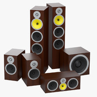 3d model 5 1 surround speakers