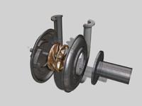 3d model hydraulic francis