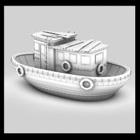 3d model boat fish
