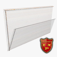 chain link fence 3d 3ds