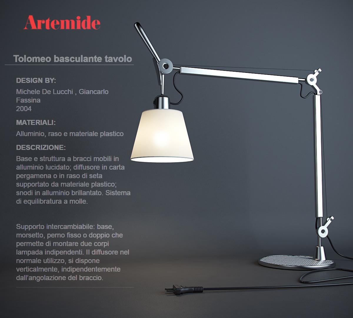 lamp artemide tolomeo basculante 3ds. Black Bedroom Furniture Sets. Home Design Ideas