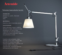lamp artemide tolomeo basculante 3ds