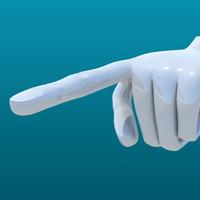 hand male human 3d ma
