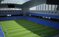 Realistic stadium soccer
