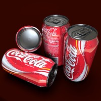3d obj coca cola