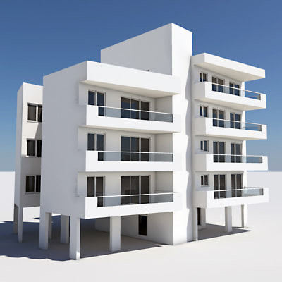 3d model of apartment building for Apartment 3d model