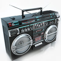 3d model boombox crown sz-5100sl