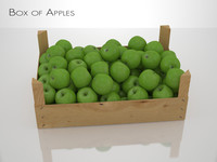 3d box apples model