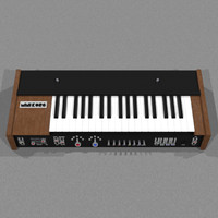 Vintage Synthesizer: Korg Univox: C4D Model
