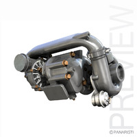 3d model turbo turbocharger