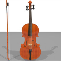 violin wood finish 3d c4d