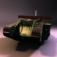 3d model of british mark v tank