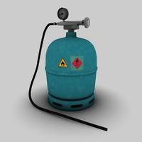 camping gas bottle 3d model