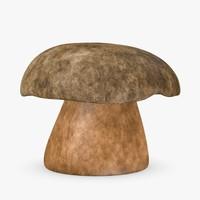 mushroom boletus aereus 3d model