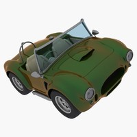 caricature car cobra 3d max