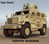 3d maxxpro mrap vehicle model