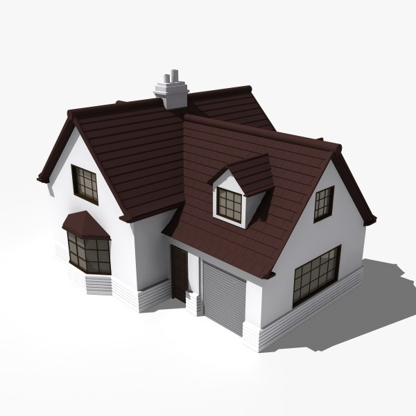 House building obj 3d house building