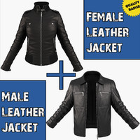3d model of pack jackets female male character