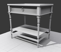 table nightstand 3d model