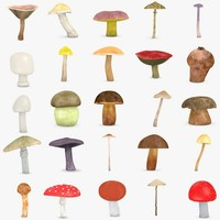 3ds max 25 mushrooms