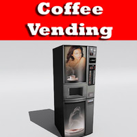 3d 3ds coffee vending machine