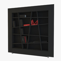 3d model of bookcase lines