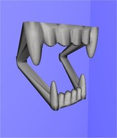 fake fangs dxf