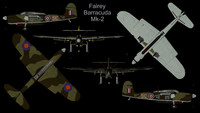 rare planes fairey barracuda 3d model