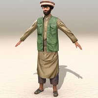 3d arab afghani casual 06 model