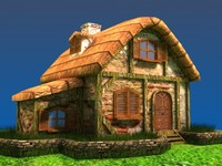 3ds max medieval cottage