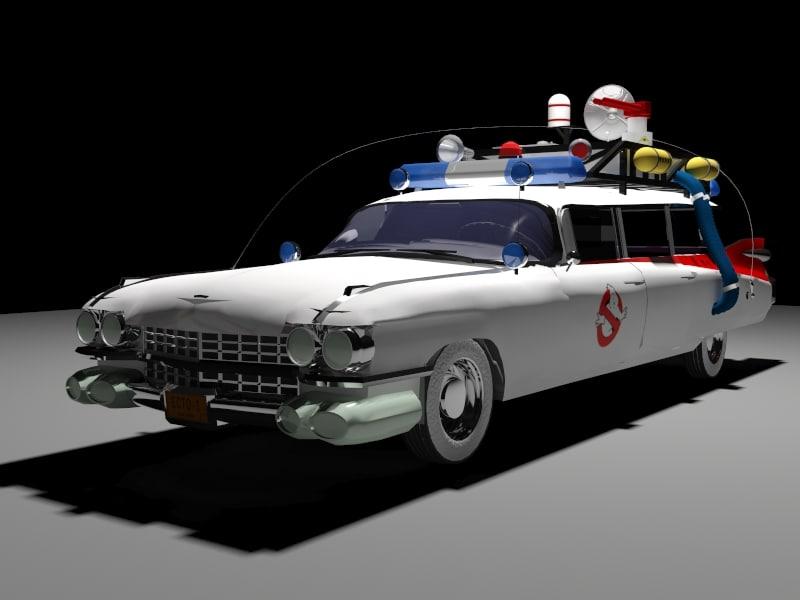 car ghostbusters 3d model. Black Bedroom Furniture Sets. Home Design Ideas