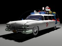 car ghostbusters 3d model