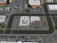 free obj model road street cities intersection